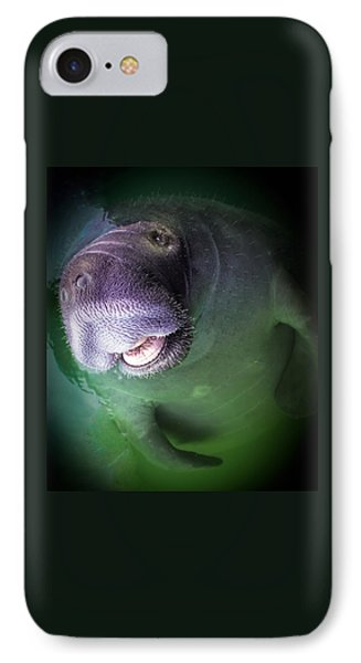 The Happy Manatee Phone Case by Karen Wiles