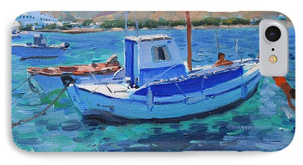 The Harbor  Tinos Phone Case by Andrew Macara