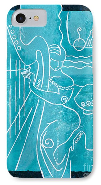 The Harp Player Phone Case by Elisabeta Hermann