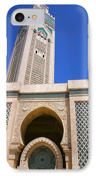 The Hassan II Mosque Grand Mosque With The Worlds Tallest 210m Minaret Sour Jdid Casablanca Morocco IPhone Case