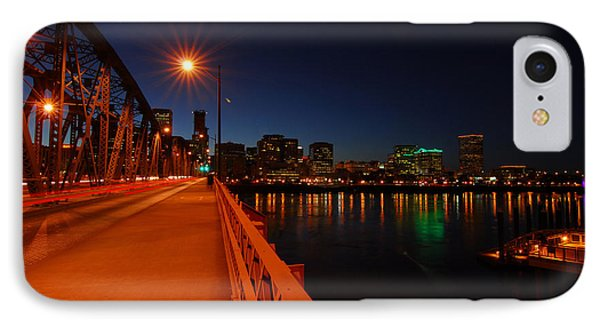 The Hawthorne Bridge  IPhone Case by Jean-Jacques Thebault