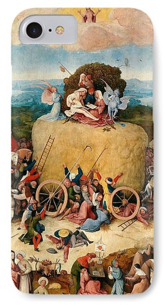 The Hay Wagon - Central Panel IPhone Case by Hieronymus Bosch