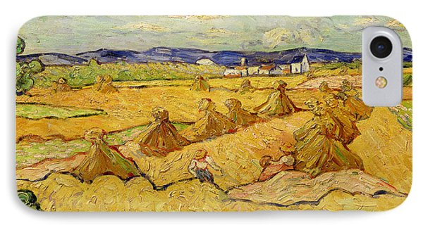 The Haystacks IPhone Case by Vincent van Gogh