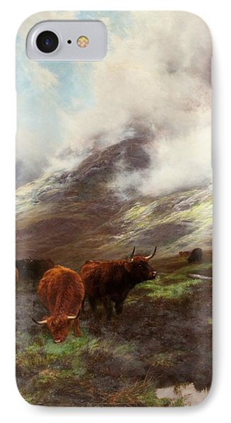 The Head Of The Glen, 1894 IPhone Case by Peter Graham