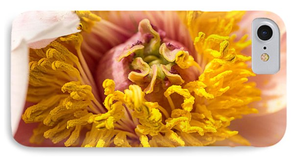IPhone Case featuring the photograph The Heart Of A Dahlia by Cathy Donohoue