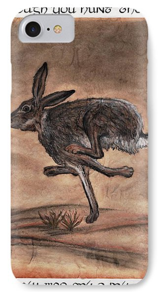 The Heart Of The Hare Phone Case by Bryana  Johnson