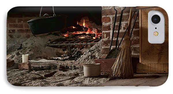 The Hearth - Fireplace IPhone Case by Nikolyn McDonald