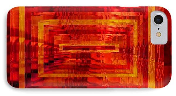 The Heat Is On Op Art Phone Case by Patricia E Sundik