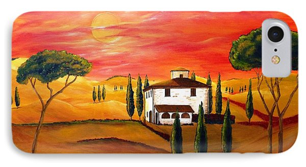 The Heat Of Tuscany Phone Case by Christine Huwer