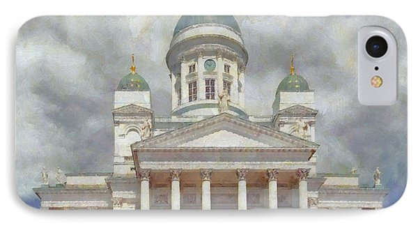 The Helsinki Cathedral Phone Case by Digital Photographic Arts