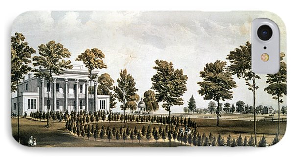 The Hermitage, Jacksons Tomb And Andrew J. Donelsons Residence, 12 Miles From Nashville Tennessee IPhone Case by American School