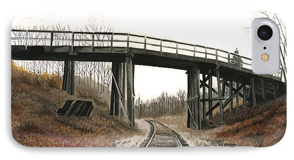 IPhone Case featuring the painting The High Bridge by Ferrel Cordle