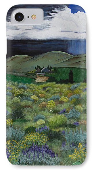 IPhone Case featuring the painting The High Desert Storm by Jennifer Lake