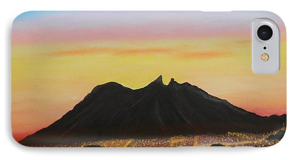 The Hill Of Saddle Monterrey Mexico Phone Case by Jorge Cristopulos