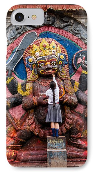 The Hindu God Shiva Phone Case by Nila Newsom