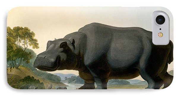The Hippopotamus, 1804 IPhone 7 Case by Samuel Daniell