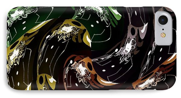 IPhone Case featuring the digital art The History Of Fashion by Ann Calvo