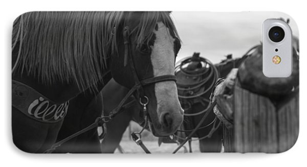 IPhone Case featuring the photograph The Hitching Post by Amber Kresge