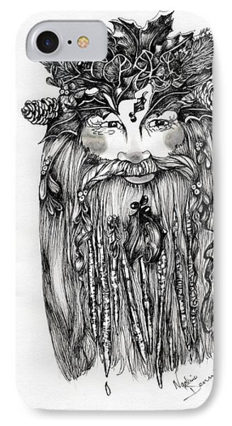 The Holly King IPhone Case by Nadine Dennis