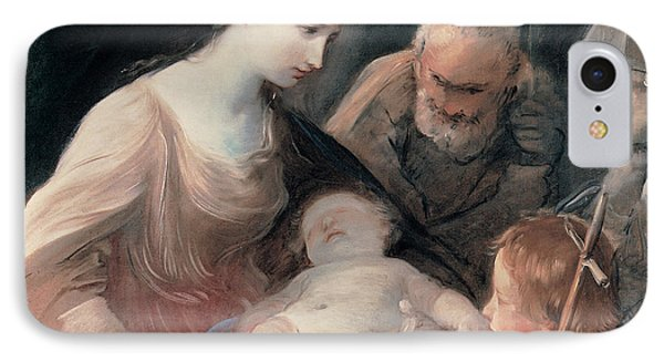 The Holy Family With St Elizabeth And St John The Baptist IPhone Case