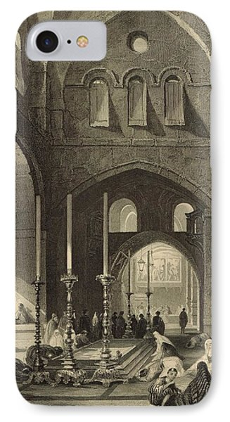 The Holy Sepulchre 1886 Engraving Phone Case by Antique Engravings