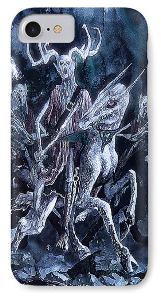 IPhone Case featuring the painting The Horned King 2 by Curtiss Shaffer