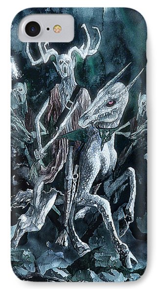 The Horned King IPhone Case by Curtiss Shaffer
