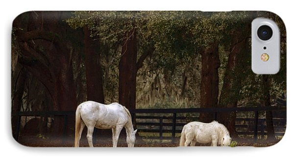 The Horse And The Pony - Standard Size Phone Case by Mary Machare