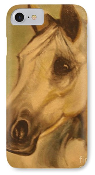 IPhone Case featuring the painting The Horse by Sorin Apostolescu
