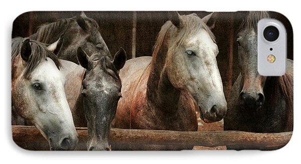 The Horses Phone Case by Angel  Tarantella