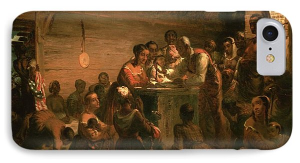The Hour Of Emancipation, 1863 Oil On Canvas IPhone Case by William Tolman Carlton