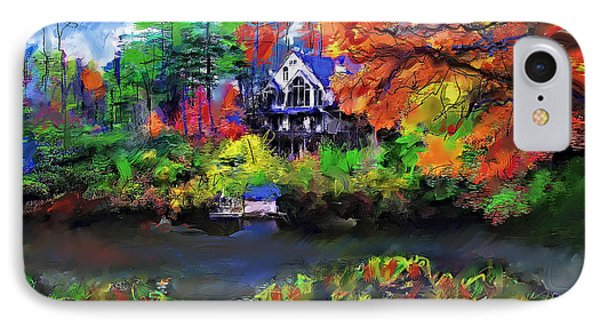 The House At Highlands IPhone Case by Ted Azriel
