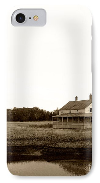 The House On Essex Salt Marsh-sepia IPhone Case by K Hines