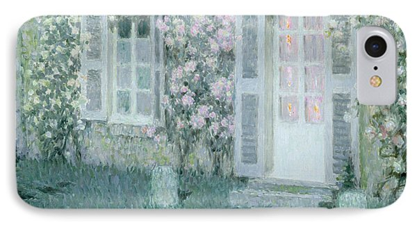 The House With Roses IPhone Case by Henri Eugene Augustin Le Sidaner