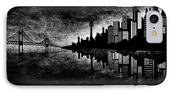 The Hubris Of Mankind Bw Phone Case by Angelina Vick
