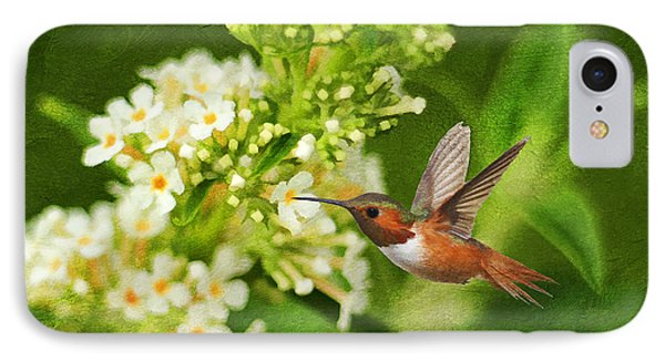 The Hummer And The Butterfly Bush Phone Case by Darren Fisher