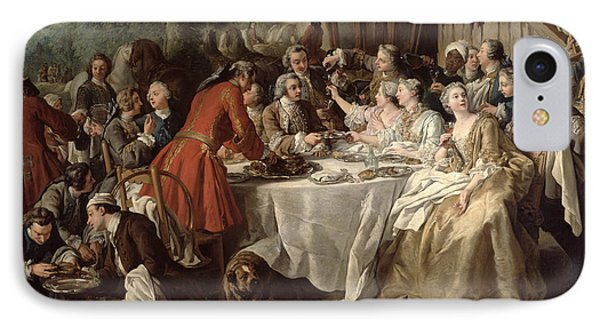 The Hunt Lunch, Detail Of The Diners IPhone Case by Jean Francois de Troy