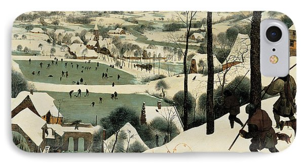 The Hunters In The Snow IPhone Case by Jan the Elder Brueghel