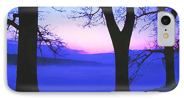 IPhone Case featuring the painting The Hush At First Light by Sophia Schmierer