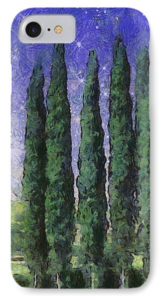 The Hushed Poetry Of Trees In The Night Phone Case by Wendy J St Christopher