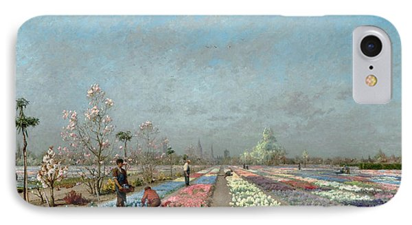 The Hyacinth Fields In Bloom At The Van IPhone Case by Adrien Louis Demont