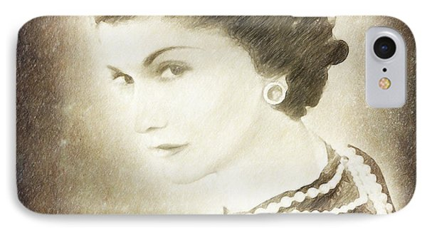 The Icon Of Elegance Phone Case by Angela A Stanton