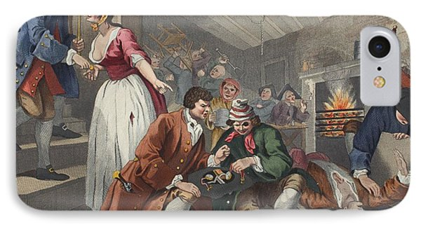 The Idle Prentice Betrayed Phone Case by William Hogarth