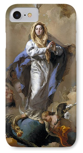 The Immaculate Conception IPhone Case by Giovanni Battista Tiepolo