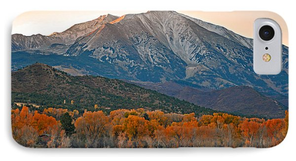 The Impressive Mount Sopris   IPhone Case by Eric Rundle
