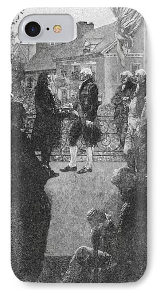 The Inauguration, Engraved By Francis Scott King, Illustration From Washingtons Inauguration IPhone Case by Howard Pyle