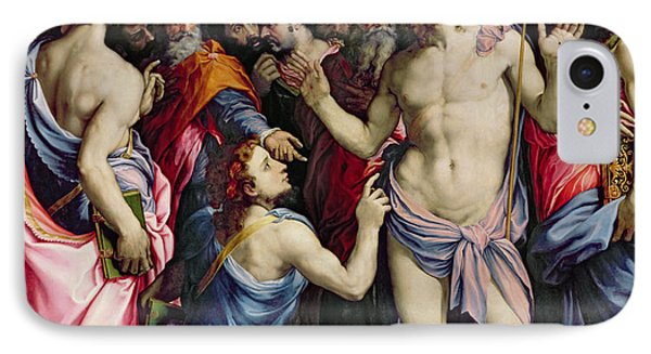 The Incredulity Of Saint Thomas IPhone Case by Francesco de Rossi Salviati Cecchino