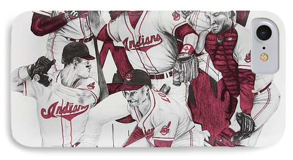 The Indians' Glory Years-late 90's Phone Case by Joe Lisowski