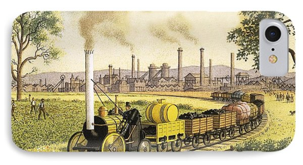 The Industrial Revolution IPhone Case by Ronald Lampitt