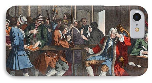 The Industrious Prentice Alderman Phone Case by William Hogarth